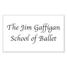 JG SCHOOL OF BALLET Rectangle Sticker