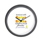 &quot;Spina Bifida Pride&quot; Wall Clock
