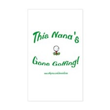 NANA GONE GOLFING Rectangle Decal
