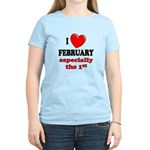 February 1st Women's Light T-Shirt