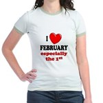 February 1st Jr. Ringer T-Shirt