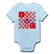 Heartvision Game of Love Design Infant Creeper
