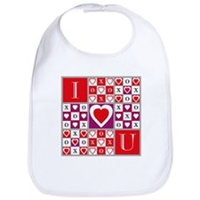 Heartvision Game of Love Design Baby Bib