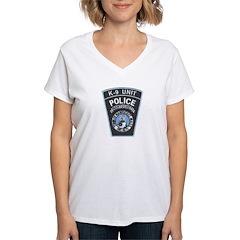 Nantucket Police K-9 Women's V-Neck T-Shirt