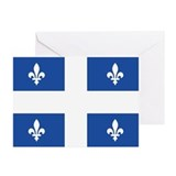 Quebec Flag Greeting Cards (Pk of 10)