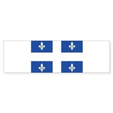 Quebec Flag Bumper Bumper Sticker