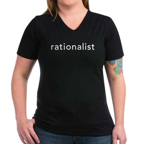Rationalist Women's V-Neck Dark T-Shirt