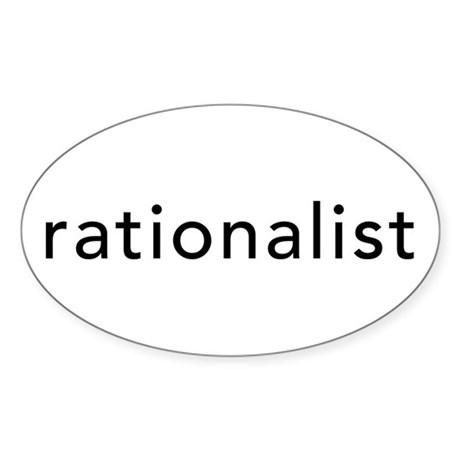Rationalist Oval Sticker