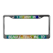 Do what Beagle License Plate Frame