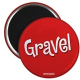 "Retro Gravel 2.25"" Magnet (10 pack)"