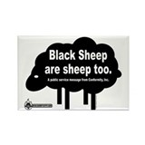 Black Sheep are Sheep Too. Rectangle Magnet