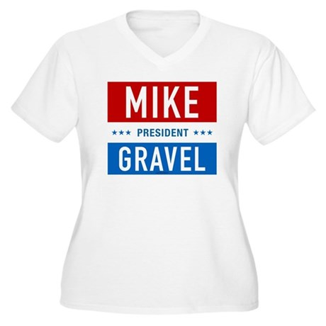 Classic Gravel Plus Size V-Neck Shirt