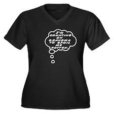My Grandma Women's Plus Size V-Neck Dark T-Shirt