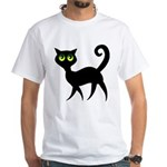 Cat With Green Eyes White T-Shirt