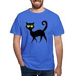 Cat With Green Eyes Dark T-Shirt