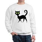 Cat With Green Eyes Sweatshirt