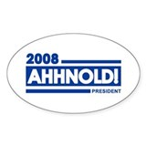 AHHNOLD! 2008 Oval Decal