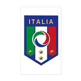 Italian Soccer emblem Rectangle Decal