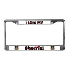 Love Sheltie License Plate Frame