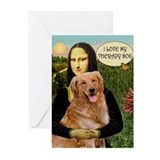 Mona/Golden Therapy Greeting Cards (Pk of 20)