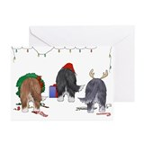 Bearded Collie Christmas Cards (Pk of 20)