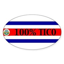 costarica Oval Decal