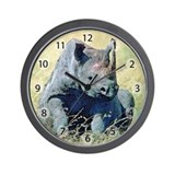 Seated Baby Rhino Wall Clock