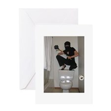 Funny Toilet Greeting Card