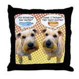 Wheaton Terrier Throw Pillow