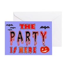 Halloween Party signs Greeting Card