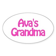 Ava's Grandma Oval Decal