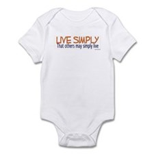 Live Simply -- That others ma Infant Bodysuit