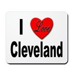I Love Cleveland Mousepad