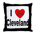 I Love Cleveland Throw Pillow