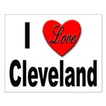 I Love Cleveland Small Poster