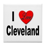 I Love Cleveland Tile Coaster