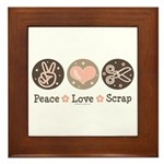 Peace Love Scrapbook Framed Tile