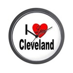 I Love Cleveland Wall Clock