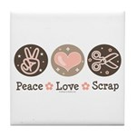 Peace Love Scrapbook Tile Coaster