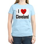I Love Cleveland Women's Pink T-Shirt