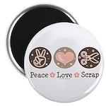 Peace Love Scrapbook Magnet