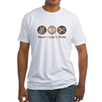 Peace Love Scrapbook Fitted T-Shirt