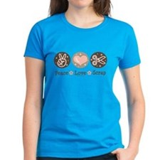 Peace Love Scrapbook Tee