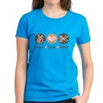 Peace Love Scrapbook Women's Dark T-Shirt