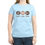 Peace Love Scrapbook Women's Light T-Shirt