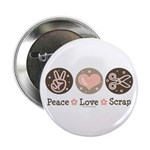 Peace Love Scrapbook Button