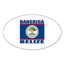 Dangriga, Belize Oval Decal