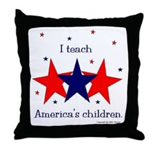 """I teach..."" Throw Pillow"