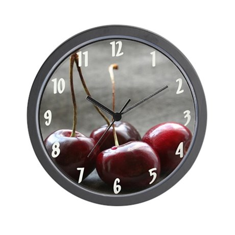 """Shining Cherries"" Wall Clock"