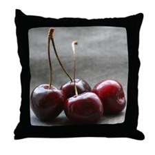 """Shining Cherries"" Throw Pillow"